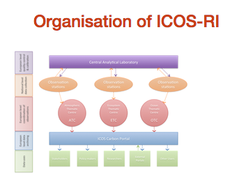 Organisation chart of ICOS-RI