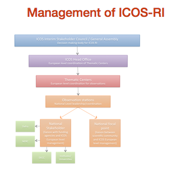 Management chart of ICOS-RI
